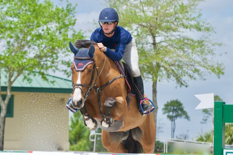 Venezuela's Luis Fernando Larrazabal and Champion for Volt Victorious in 1.30m Open Stake